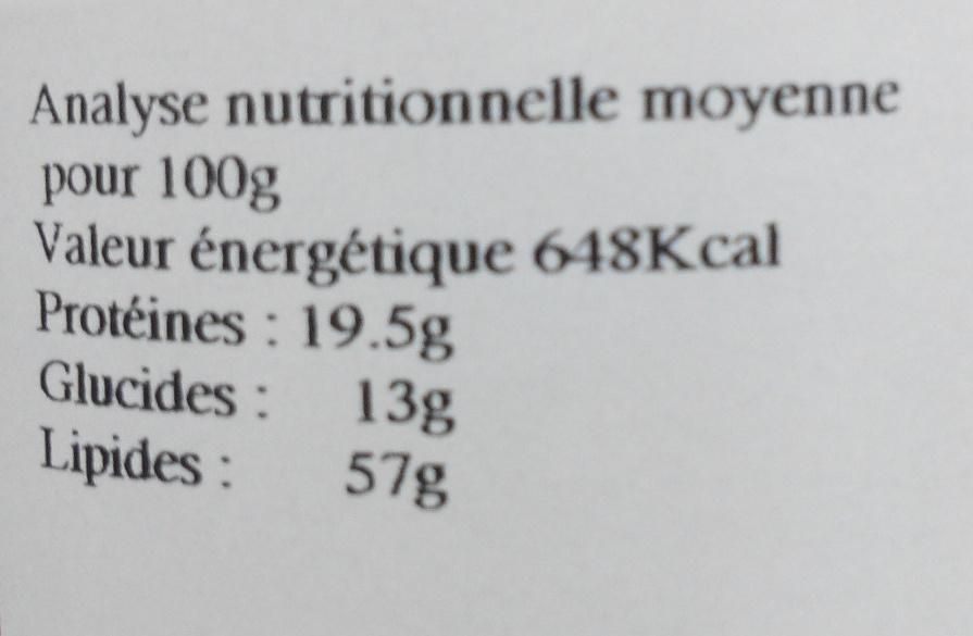 Purée d'amande blanche - Nutrition facts - fr