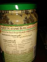 Purée Tahin Sésame blanc - Ingredients - fr