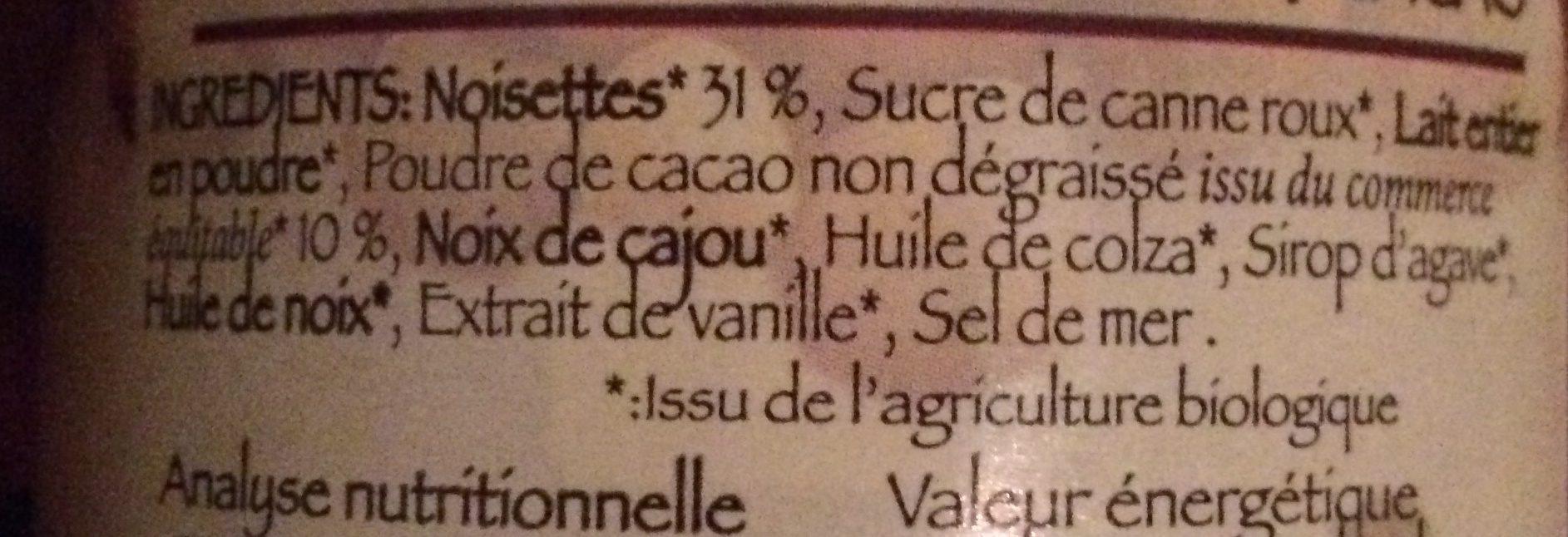 Pâte à Tartiner Chocolade - Ingredienti - fr