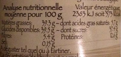 Pâte à Tartiner Chocolade - Valori nutrizionali - fr