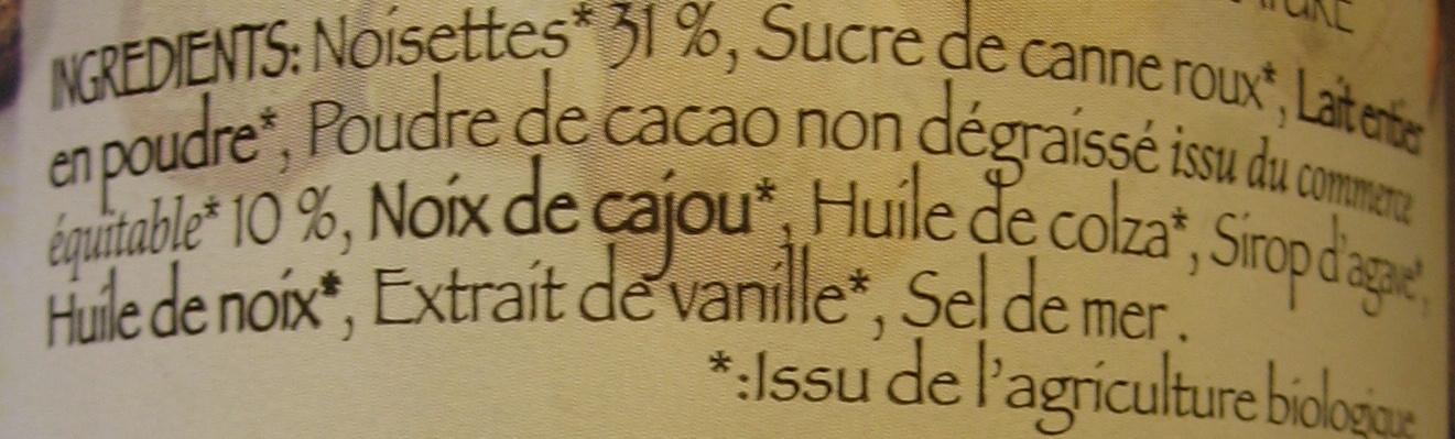 Chocolade Sans Huile de Palme - Ingredients - fr