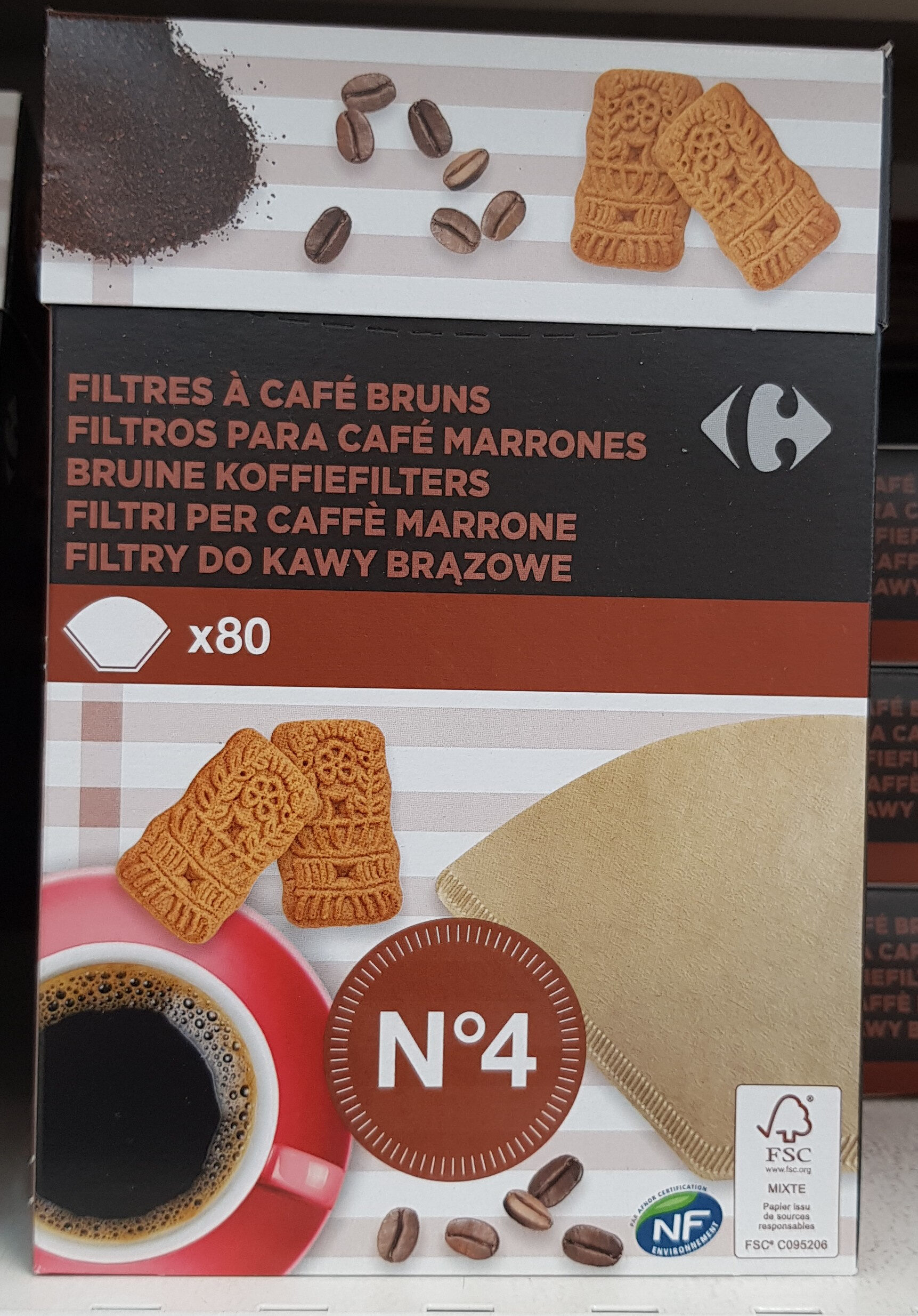 Filtre à café N4 carrefour - Produit - fr