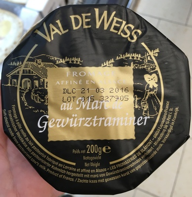 Fromage affiné au Marc de Gewürztraminer (27% MG) - Produit - fr