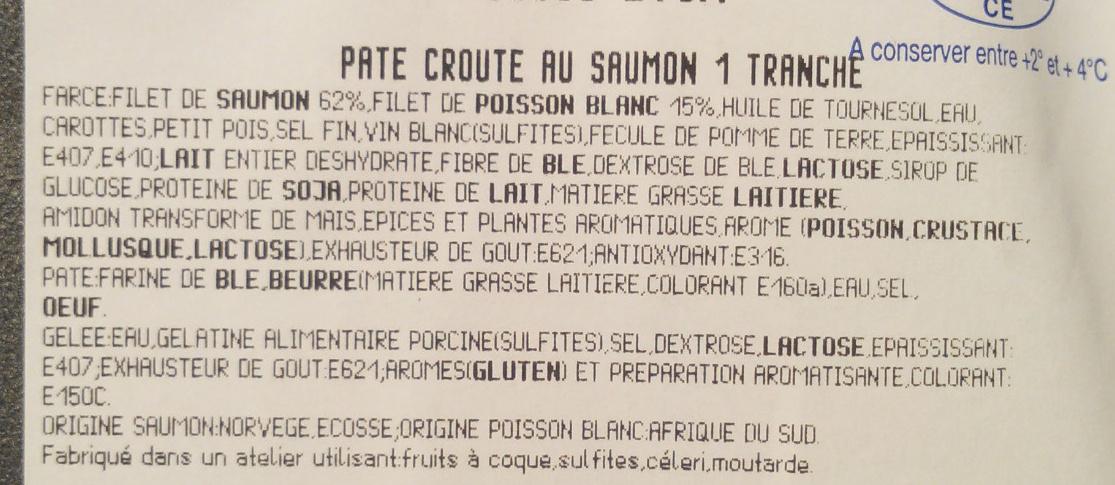 Paté croûte au saumon - Ingrediënten - fr