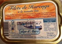 Filets de harengs à la tomate bio - Produit - fr