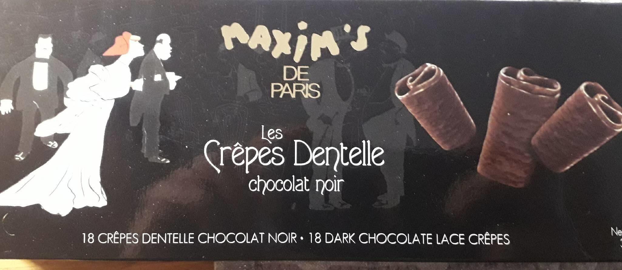 18 Fines Crêpes Dentelle Enrobées De Chocolat Noir - Product - fr