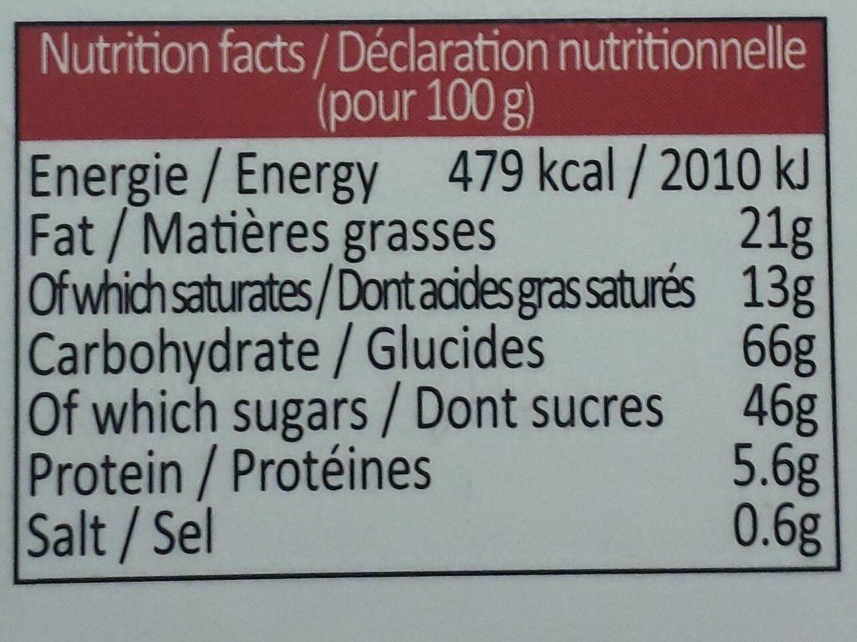 18 Fines Crêpes Dentelle Enrobées De Chocolat Noir - Nutrition facts - fr