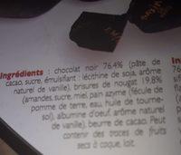 Nougat - Ingredienti - fr