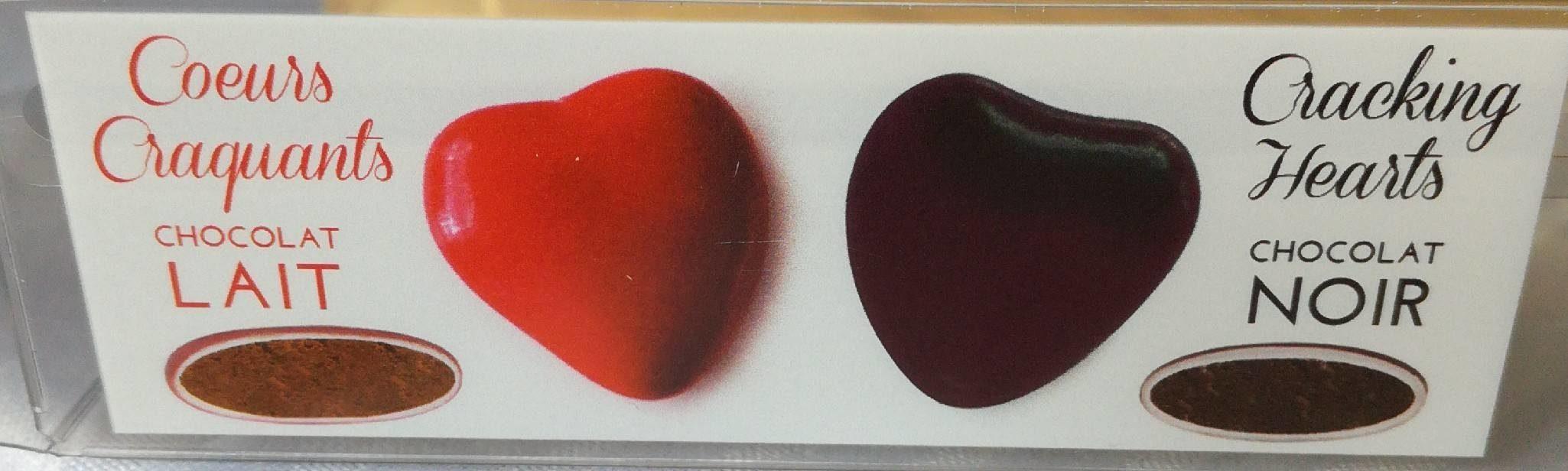 Cœurs Craquants Chocolat Noir ou au Lait - Produit