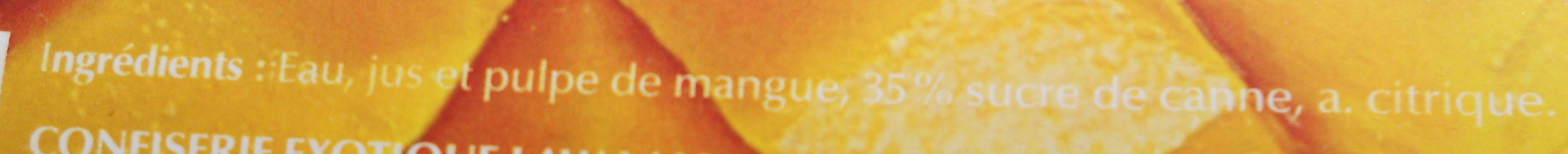 Nectar de Mangue José - Ingrediënten