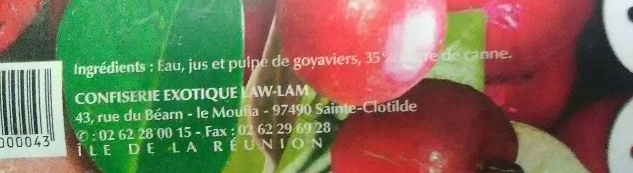 Néctar de Goyavier - Ingrediënten