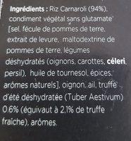 Risotto à La Truffe D'été - Ingrédients - fr