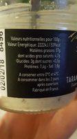 Tarama à La Truffe D'été - Nutrition facts