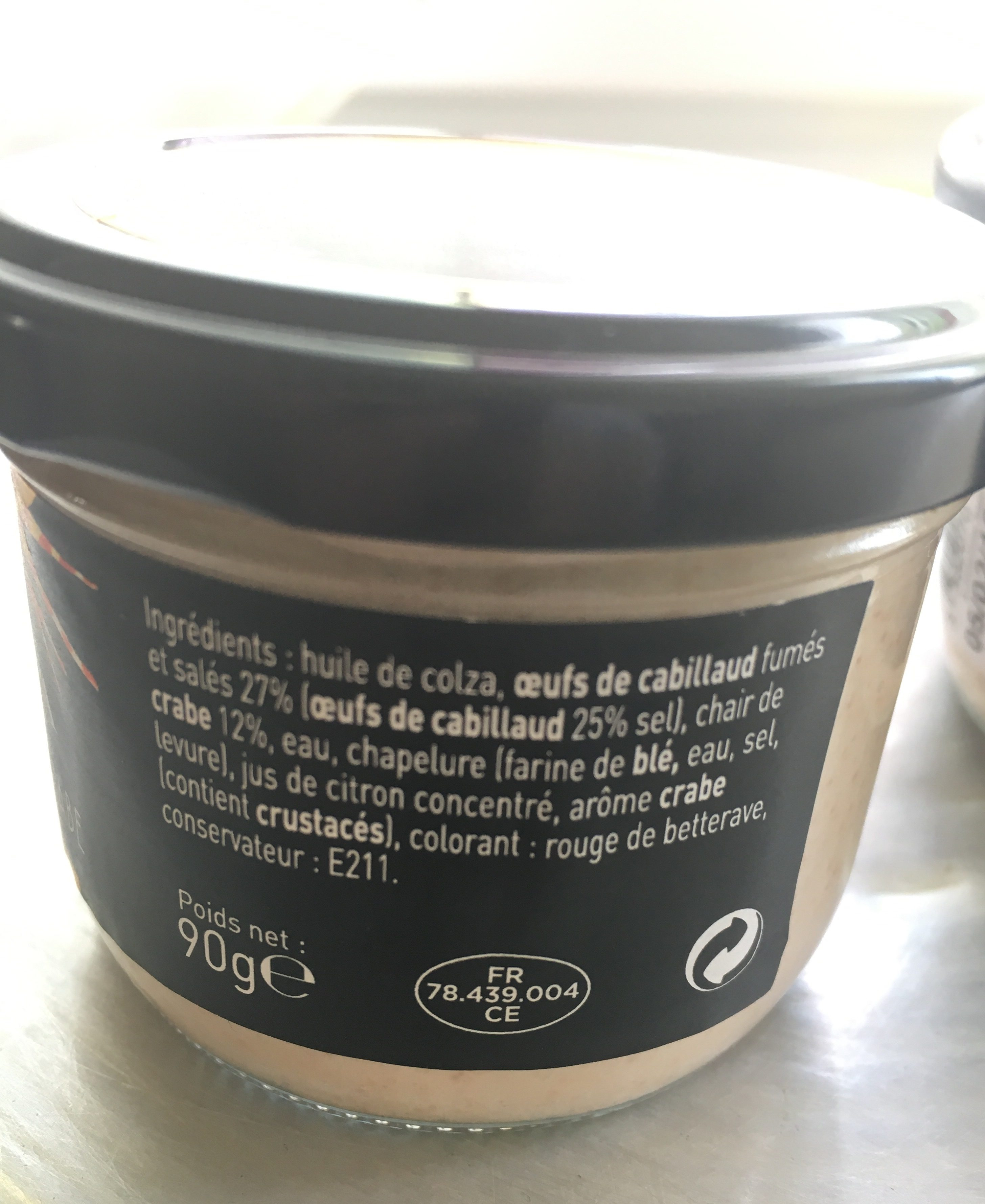 Tarama Au Crabe - Ingredients