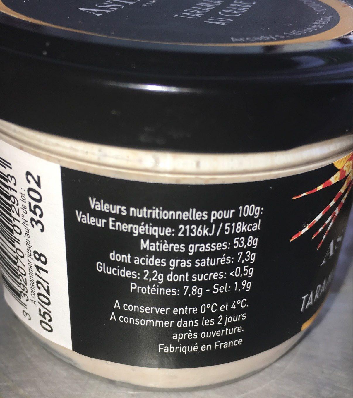 Tarama Au Crabe - Nutrition facts
