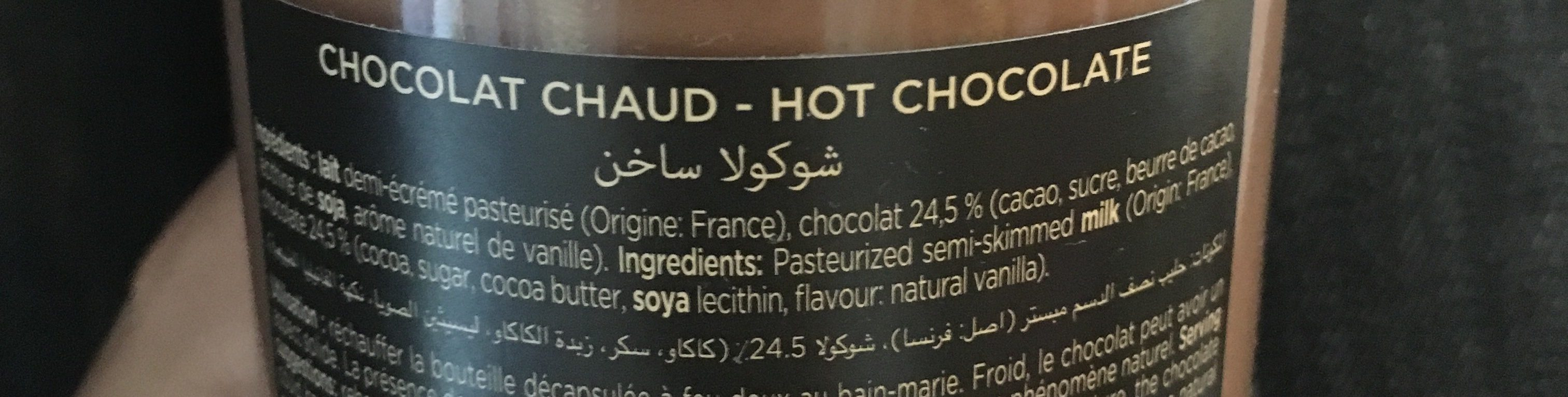 Chocolat Chaud - Ingrédients - fr