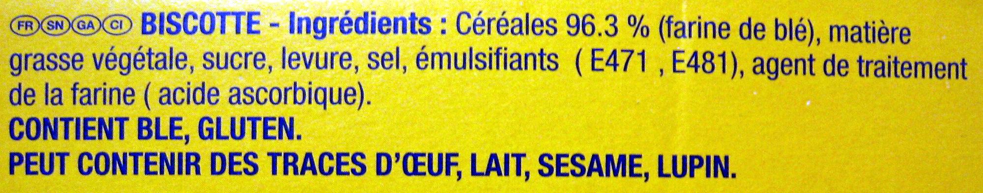La Biscotte Heudebert - Ingrediënten