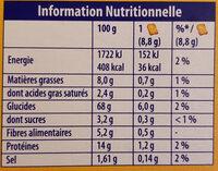 Biscottes 6 Céréales - Informations nutritionnelles - fr