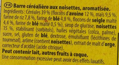 Grany noisettes - Ingrediënten - fr