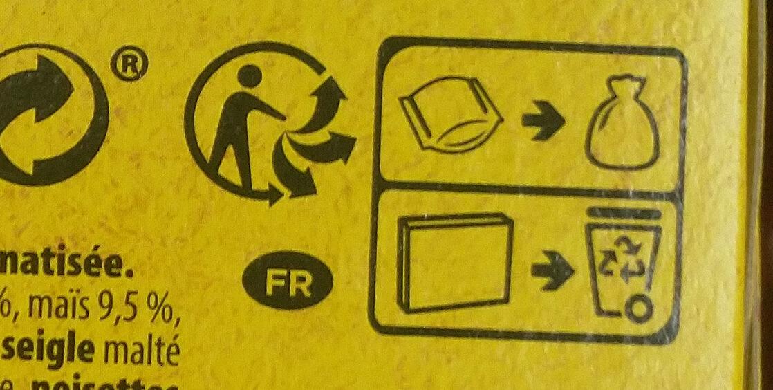 Grany noisettes - Recyclinginstructies en / of verpakkingsinformatie - fr