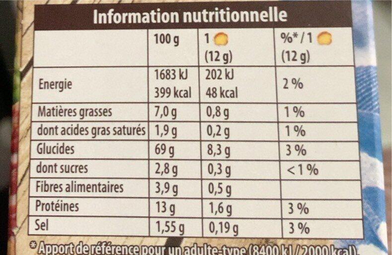 Pain grillé aux 6 céréales - Información nutricional - fr