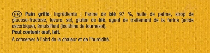 La Tartine Froment - Ingrédients - fr