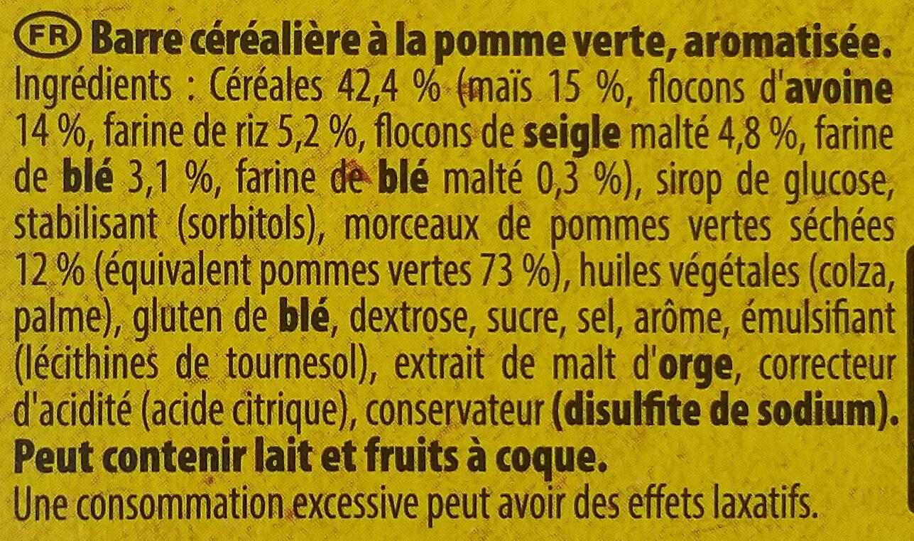 Grany Pommes Verte - Ingredients - fr