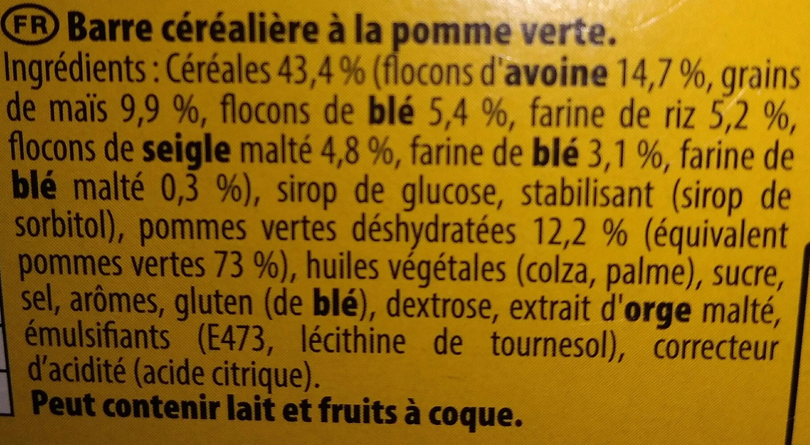 Grany Pomme - Ingrédients - fr