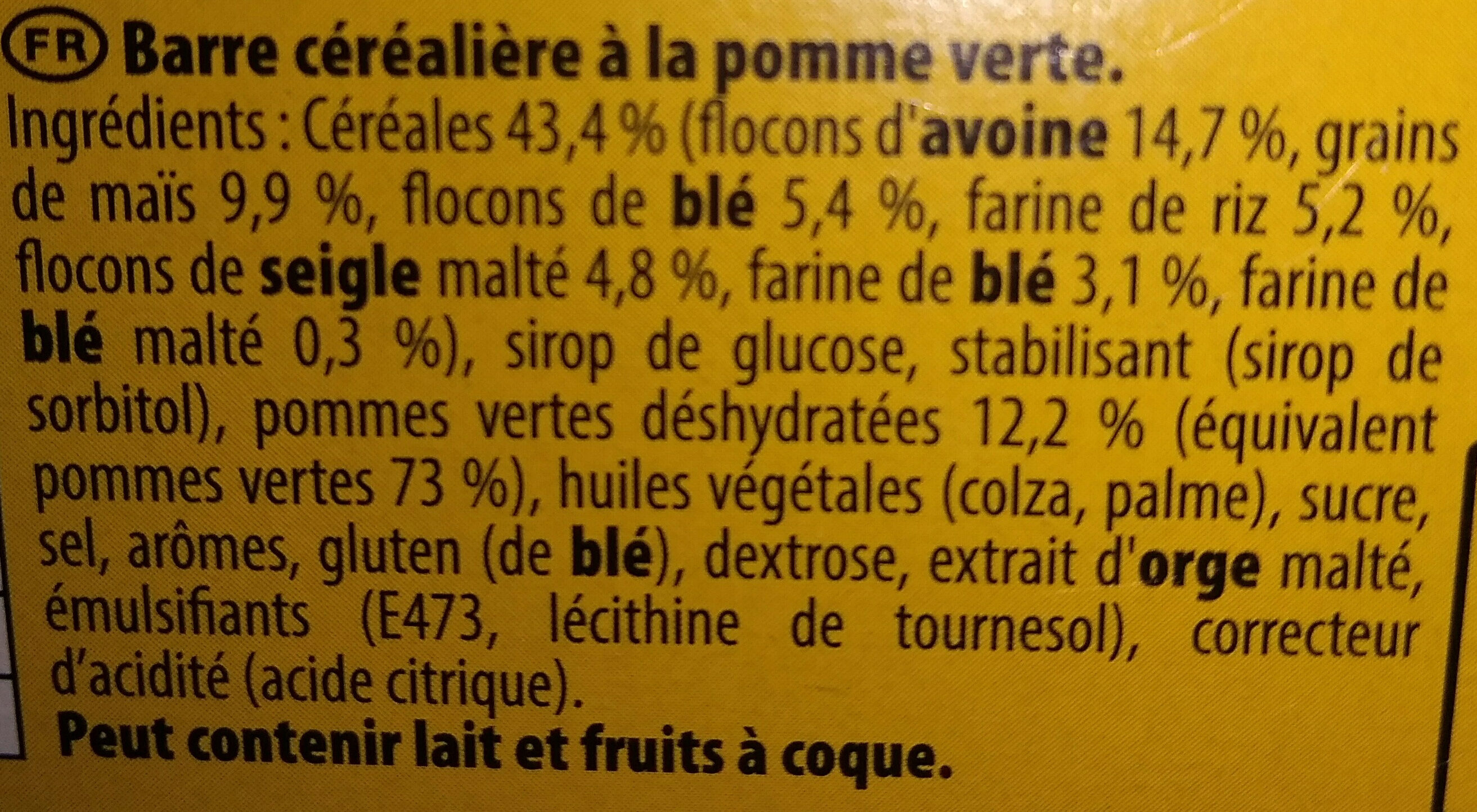 Grany Pomme - Ingredients