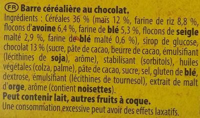 Grany Chocolat 5 Céréales - Ingrediënten - fr