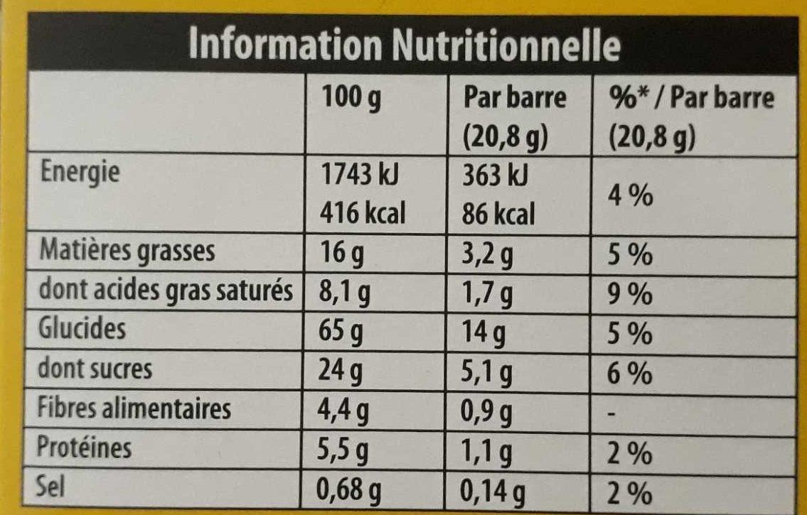Grany céréales chocolat - Voedingswaarden - fr