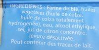 Pâte feuilletée sans additif - Ingrediënten - fr