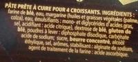 4 Croissants - Ingrédients - fr