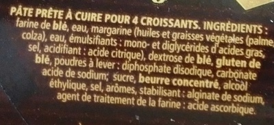 4 Croissants - Ingrediënten
