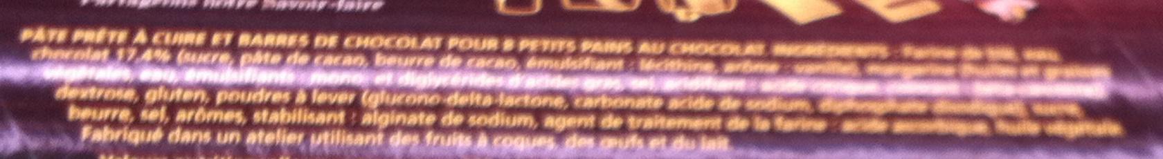 8 pains au choco - Ingrédients - fr