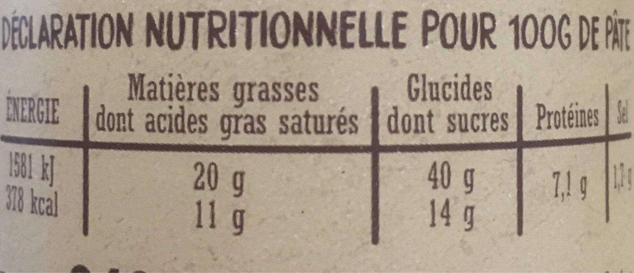 8 pains au choco - Informations nutritionnelles - fr