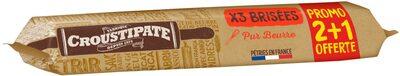 Pâtes brisées pur beurre x2 + 1 - Produit - fr