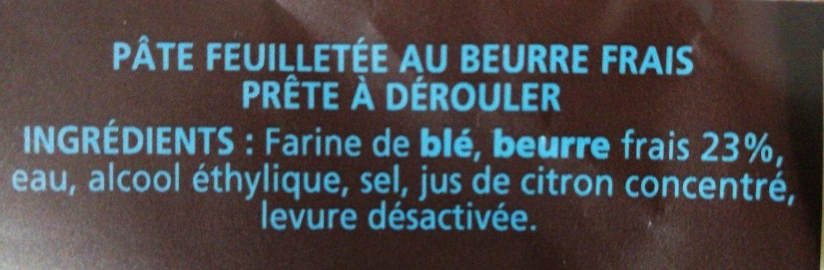 Pâte Feuilletée Pur Beurre - Ingrédients - fr