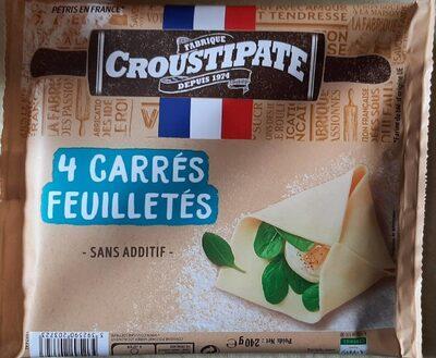4 carrés de pâte feuilletée CROUSTIPATE - Produit - fr