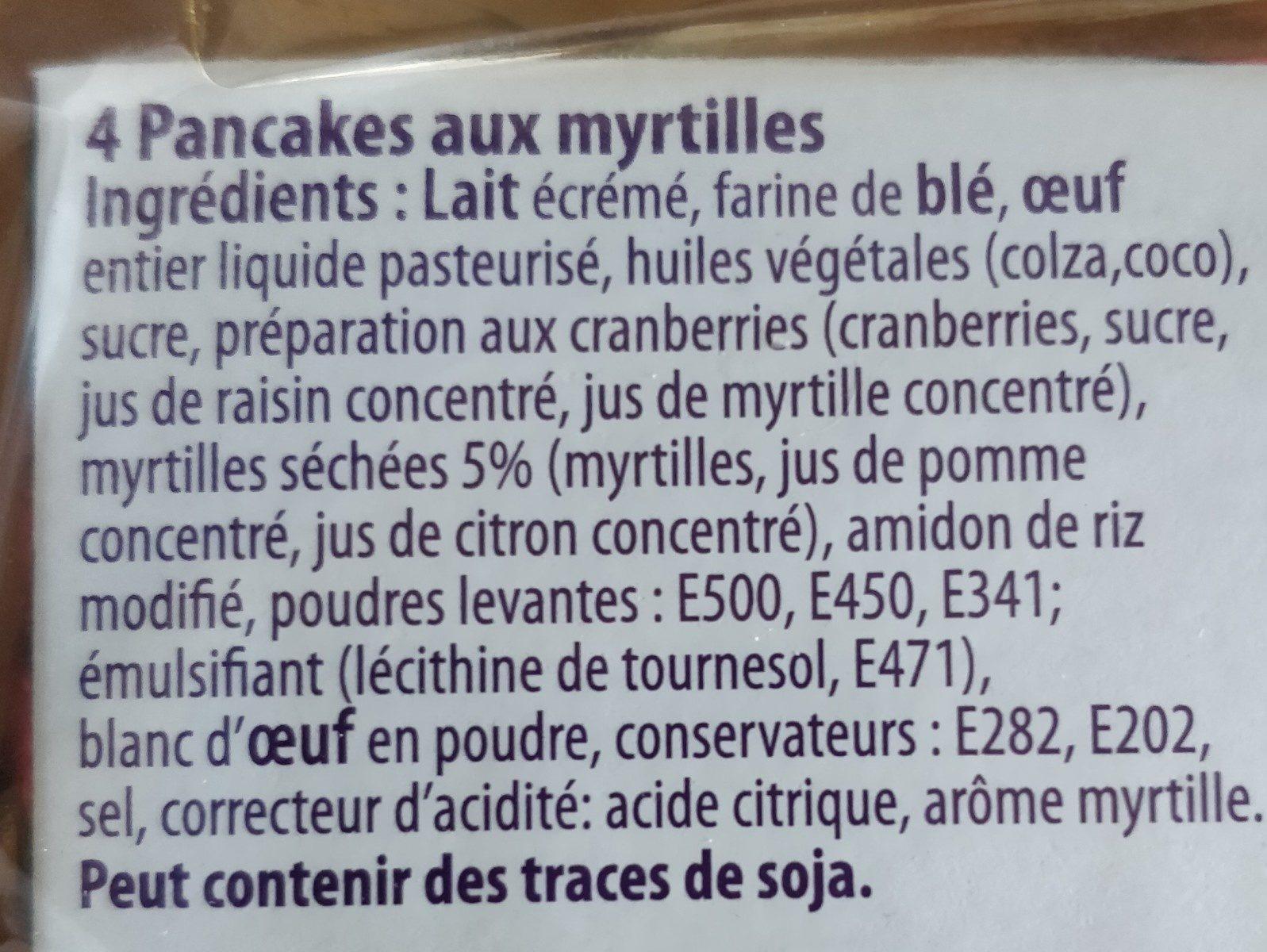 Pancakes Myrtilles - Ingrediënten - fr