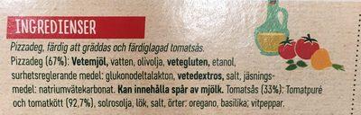 Pizzakit Original - Ingrédients - fr