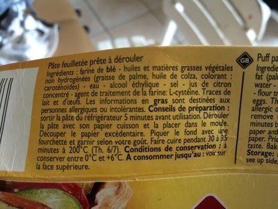 Pâte feuilletée - Produit - fr