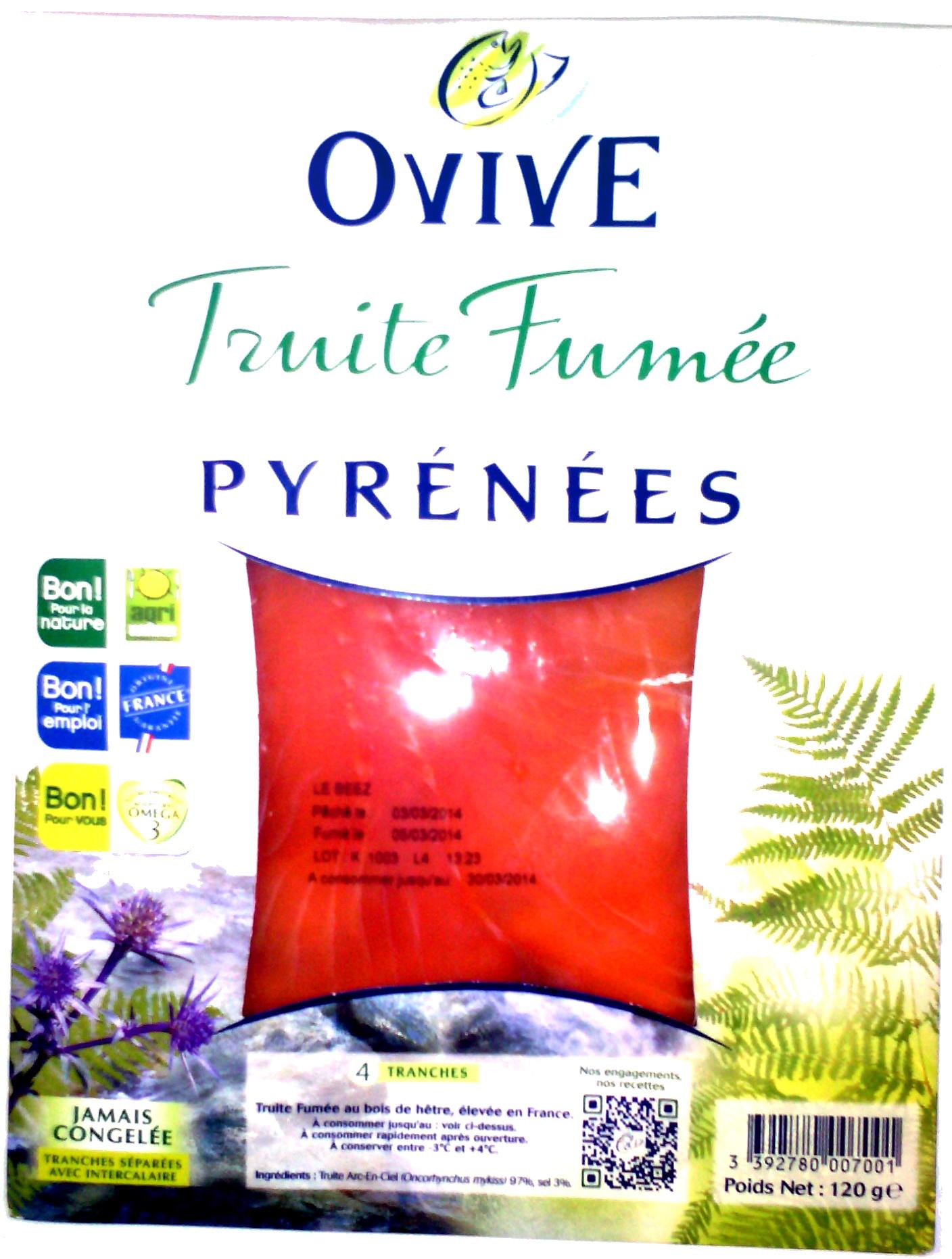 Truite Fumée Pyrénées (4 tranches) - 120 g - Produit