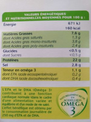 Truite Fumée Pyrénées (4 tranches) - 120 g - Ingrédients