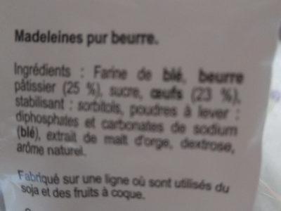Madeleines royales de Commercy - Ingrediënten - fr