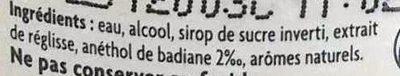 Pastis de Marseille - Ingrediënten