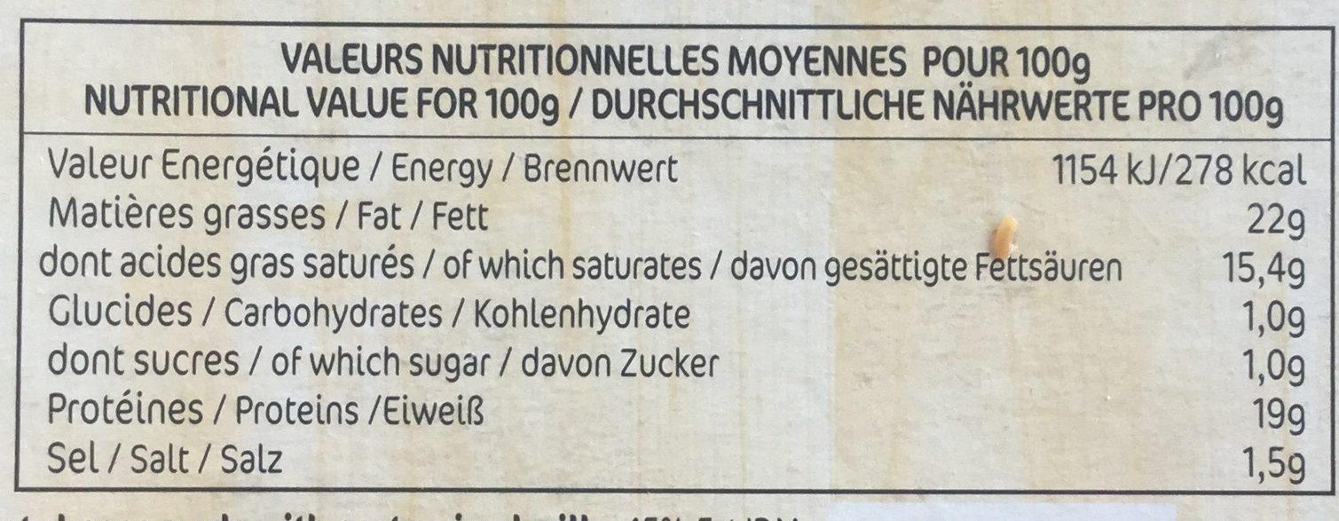 Le Chèvre - Nutrition facts - fr