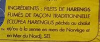 Filets De Harengs Doux Fumés - Ingredienti - fr