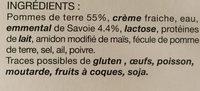 Gratin Savoyard à l'emmental de Savoie - Ingrédients - fr
