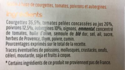 Mon gratin legumes du soleil - Ingredients